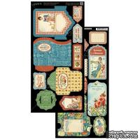 Высечки Graphic 45 - Home Sweet Home - Tags & Pockets,15х30 см.