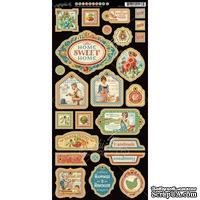 Высечки из чипборда Graphic 45 - Home Sweet Home - Decorative Chipboard, 15х30 см