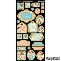 Высечки из чипборда Graphic 45 - Precious Memories - Decorative Chipboard, 15х30 см