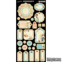 Высечки из чипборда Graphic 45 - Precious Memories - Journaling Chipboard,15х30 см.