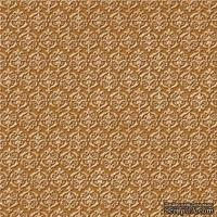 Кардсток с тиснением и внутренним слоем Core'Dinations - Core Impressions - Graphic 45 - Timeless Collection - Cream of Wheat Le Fleur, 30х30 см