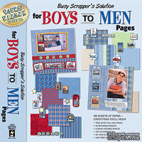 Набор бумаги HOTP - Busy Scrapper's Solution-Boys to Men, 36 листов, 30х30 см