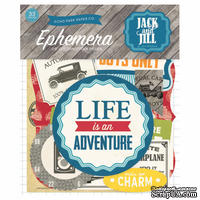 Высечки от Echo Park - Jack & Jill Boy Ephemera Pack, 33 шт