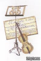 Акриловый штамп La Blanche - Violin Collage Stamp