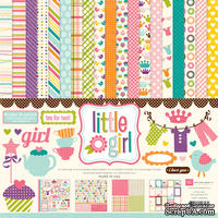 Набор бумаги от Echo Park Paper Co - Little Girl Collection Kit , 30x30