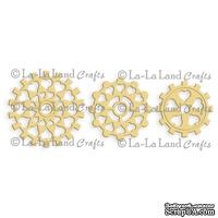 Лезвие La-La Land Crafts - Steampunk Heart Cogs (set of 3)