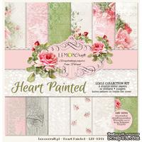 Набор скрапбумаги LemonCraft - Heart Painted, 30х30 см