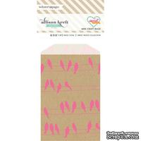 Конвертик Webster's Pages - Bulk Bags Birds: Pink & Kraft, размер 10х7 см, 1 шт.