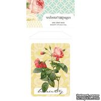 Конвертик Webster's Pages - Bulk Mini Bag Floral- w/Word, размер 10х7 см, 1 шт.