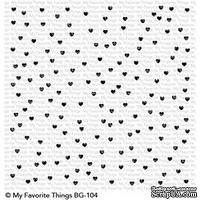 Резиновый штамп My Favorite Things - BG Scattered Hearts Background