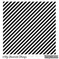 Резиновый штамп My Favorite Things - BG Bold Diagonal Stripes Background
