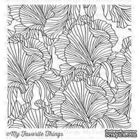 Резиновый штамп My Favorite Things - BG Etched Flower Background