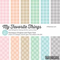 Набор бумаги My Favorite Things - Homespun Gingham Paper Pack, размер 15х15 см, 24 листа.