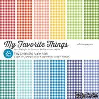 Набор бумаги My Favorite Things - Tiny Check Paper Pack, размер 15х15 см, 24 листа.