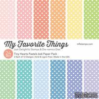 Набор бумаги My Favorite Things - Tiny Hearts Pastels Paper Pack, размер 15х15 см, 24 листа.