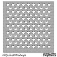 Маска My Favorite Things - Stencil Staggered Hearts - ScrapUA.com