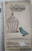 Комиссионка - Лезвия от Sizzix - Sizzix Movers & Shapers Magnetic Die Set - Mini bird and cage set