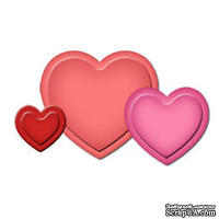Лезвия от Spellbinders - Hearts Punch Templates for Presto Punch, 3 шт