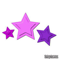 Лезвия от Spellbinders - Stars Punch Templates for Presto Punch, 3 шт