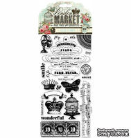 Акриловые штампы Pink Paislee - London Market Clear Stamps, 20 шт