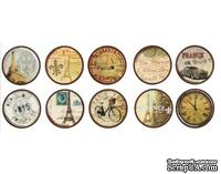 Украшения Bottle Cap Images - 1 inch  - Paris Passport