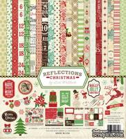 Набор бумаги и декора от Echo Park - Reflections Christmas Collection Kit