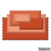 Набор лезвий Spellbinders  Nestabilities  Classic  Long Scalloped  Rectangles  Large