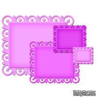Лезвие Spellbinders - Nestabilities and Decorative Elements Fleur De Lis Rectangles, 4 шт.