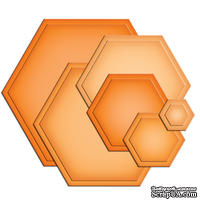 Лезвия Spellbinders - Hexagons, 6 шт.