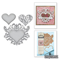 Нож для вырубки от Spellbinders - Stacey Caron - Botanical Bliss - Botanical Heart Pair