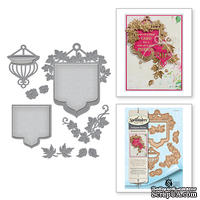 Нож для вырубки от Spellbinders - Stacey Caron - Botanical Bliss - Beautiful Banner Basket