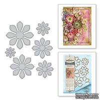 Ножи от Spellbinders – Shapeabilities Succulent and Mum Flower Etched Dies Thoughtful Expressions by Marisa Job - ScrapUA.com
