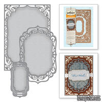 Ножи от Spellbinders - 5х7 Elegant Labels Four - Card Creator, 3 шт.