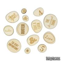 Набор деревянных украшений Studio Calico - Sundrifter Laser-Cut Wood Veneer Shapes - Phrases