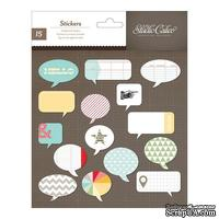 Набор наклеек из чипборда Studio Calico - Snippets Chipboard Stickers - Speech Bubbles