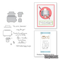 Нож для вырубки + штампы от Spellbinders - Toast with Jam 'n Bread Stamp and Die Set