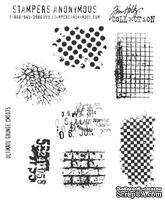 Резиновые штампы от Stampers Anonymous - Tim Holtz Cling Mounted Stamp Sets Ultimate Grunge, 7 шт.