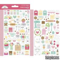 Набор наклеек от Dooblebug Mini Cardstock Stickers 2/Pkg - Made With Love Icons