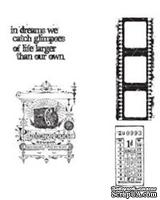 Резиновые штампы Stampers Anonymous - Tim Holtz Cling Mounted Stamps - Captured Moments, 4 шт.