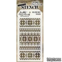 Маска Ranger - Tim Holtz - Layering Stencil - Holiday Knit, 13х20 см