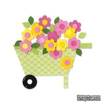 Лезвие Sizzix Bigz Die - Wheelbarrow & Flowers