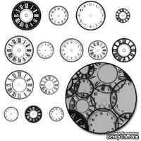Набор высечек от Maya Road -  Time Flies Clock Transparencies - Black, 28 шт.