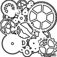 Маска The Crafter's Workshop - Mini Template Gears, 15х15 см