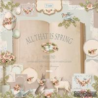 Набор скрапбумаги Tilda - All That is Spring, 8 листов, 30х30см