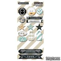 Пуговицы Teresa Collins Designs - Memorabilia - Chipboard Buttons