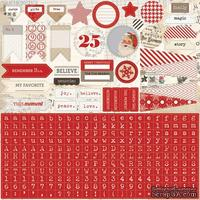 Наклейки Teresa Collins Designs - Santa's List - 12x12 Sticker Sheet
