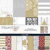 Набор бумаги и декора Teresa Collins - Tinsel and Company - Collection Pack, 30х30 см