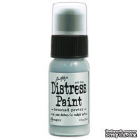 Краска Ranger - Tim Holtz - Distress Paint - Metallic - Brushed Pewter