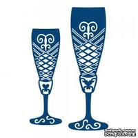 Tattered Lace Die - Champagne Glasses - Бокалы для шампанского