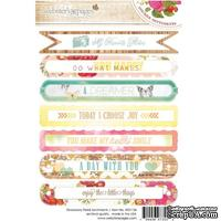 Набор наклеек Webster's Pages - Strawberry Fields - Sentiment Stickers